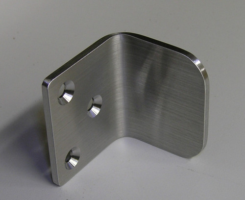 Brushed Stainless Steel Gate Stop Quot L Quot Shape 360 Yardware
