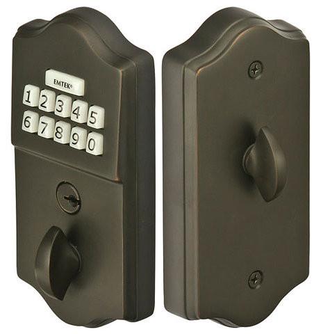 Classic Brass Keypad Deadbolt No Key Required 360 Yardware