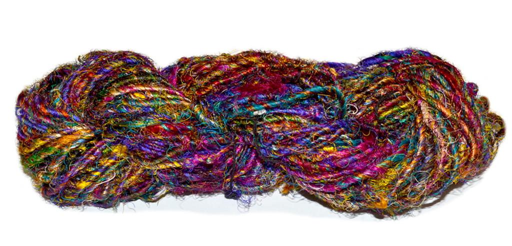 Recycled Sari Silk Yarn Bulky Expression Fiber Arts Inc