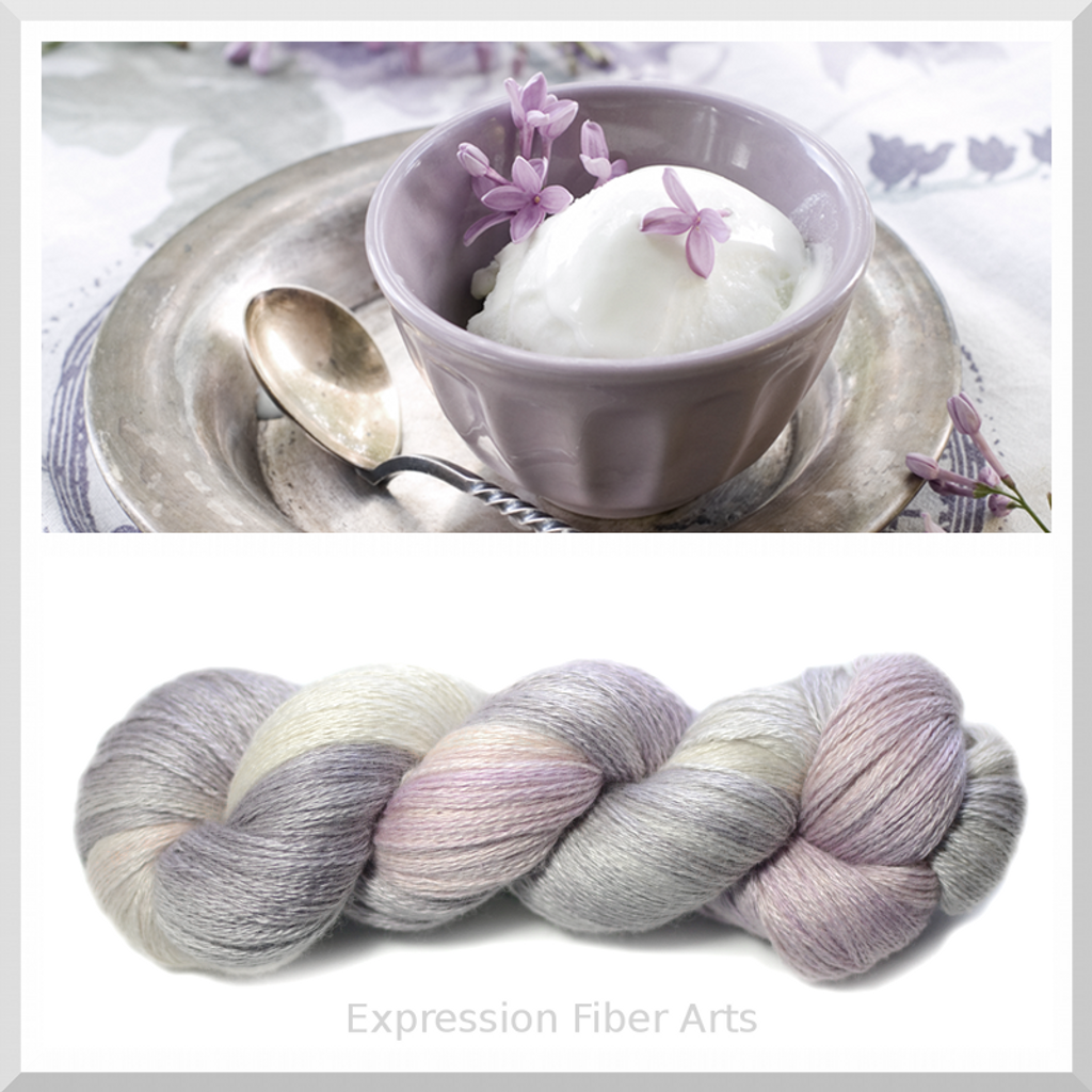 LAVENDER ICE CREAM YAK SILK LACE