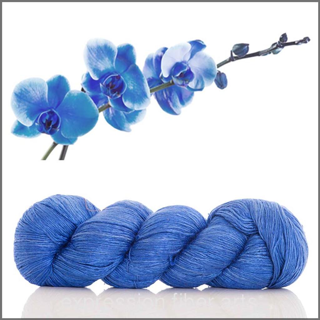 BLUE ORCHID SHIMMER SILK FINGERING