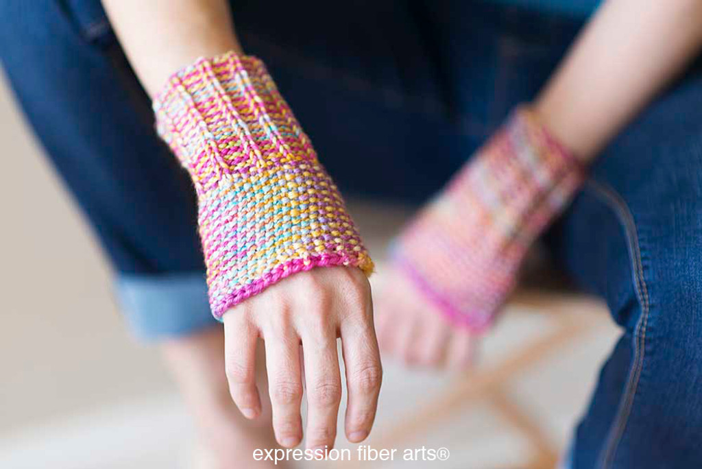 Writer's Wrist Warmers Free Knitted Pattern - Expression ...