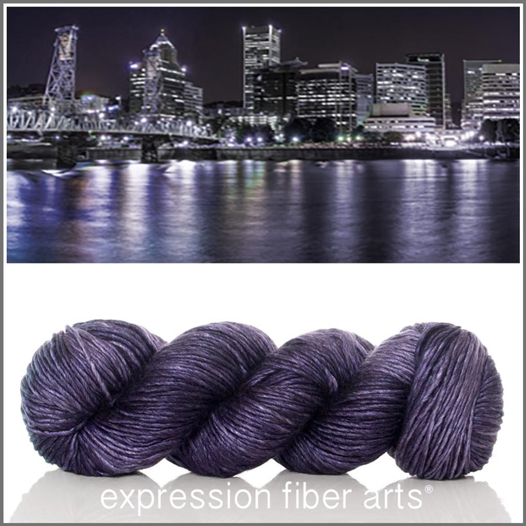 PORTLAND AT NIGHT SUPERWASH MERINO SILK PEARLESCENT WORSTED