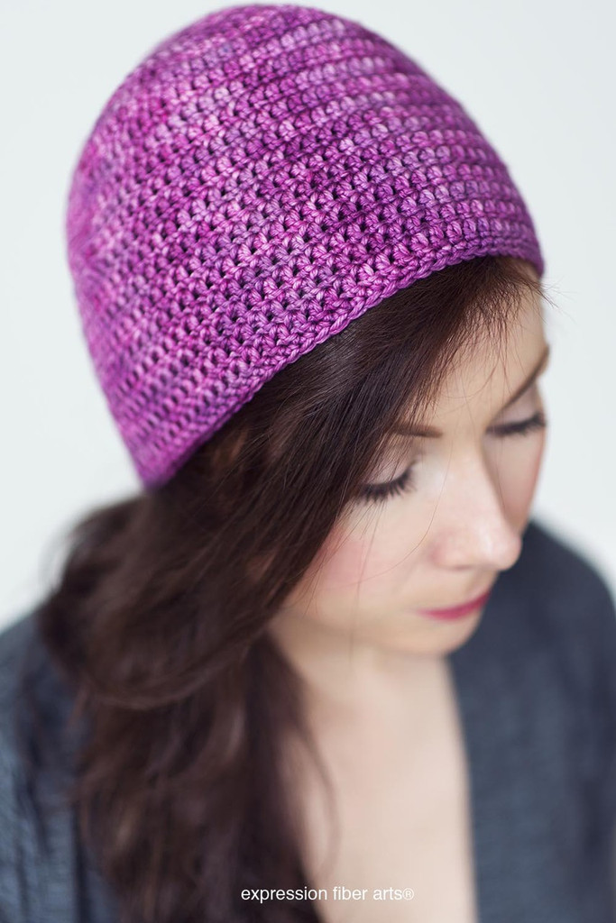 Beginners Crochet Hat Kit Choose Your Color Expression Fiber