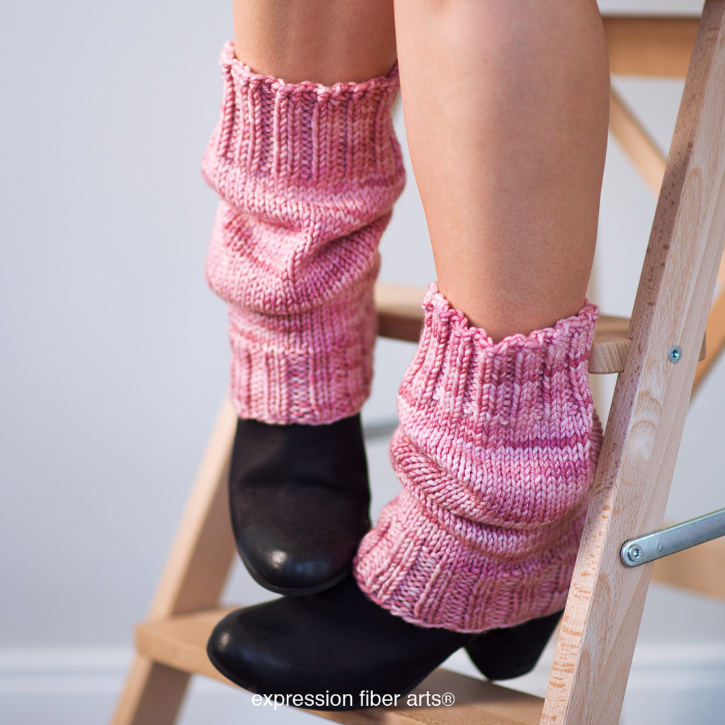 Scrunchable Knitted Leg Warmer Pattern