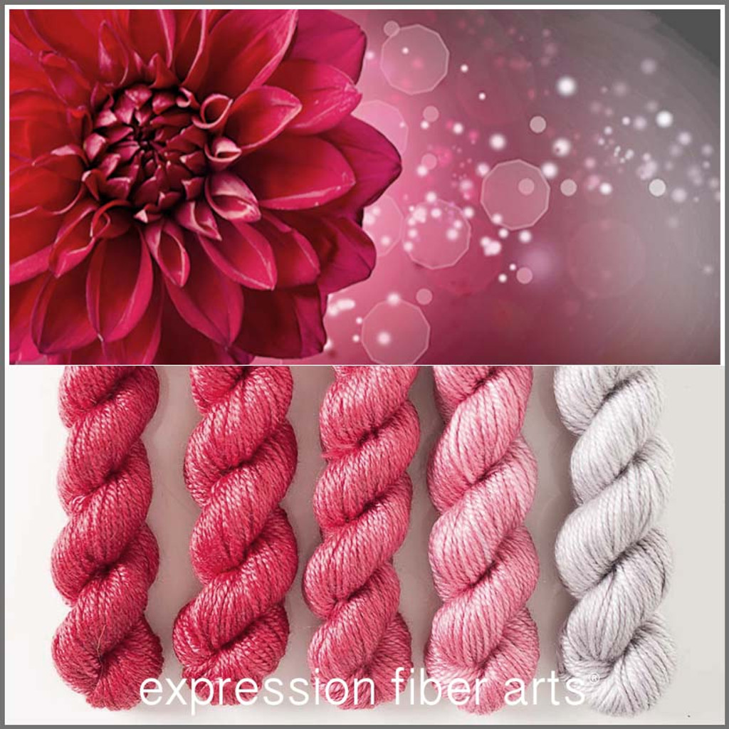 DAHLIA HUES 'LUSTER' WORSTED MINI GRADIENT KIT