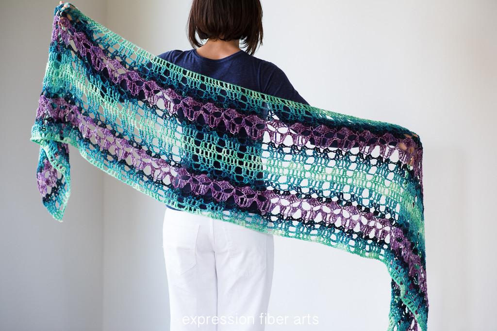 Peacock Path Crochet Shawl Pattern Fascinating Crochet Shawl Pattern