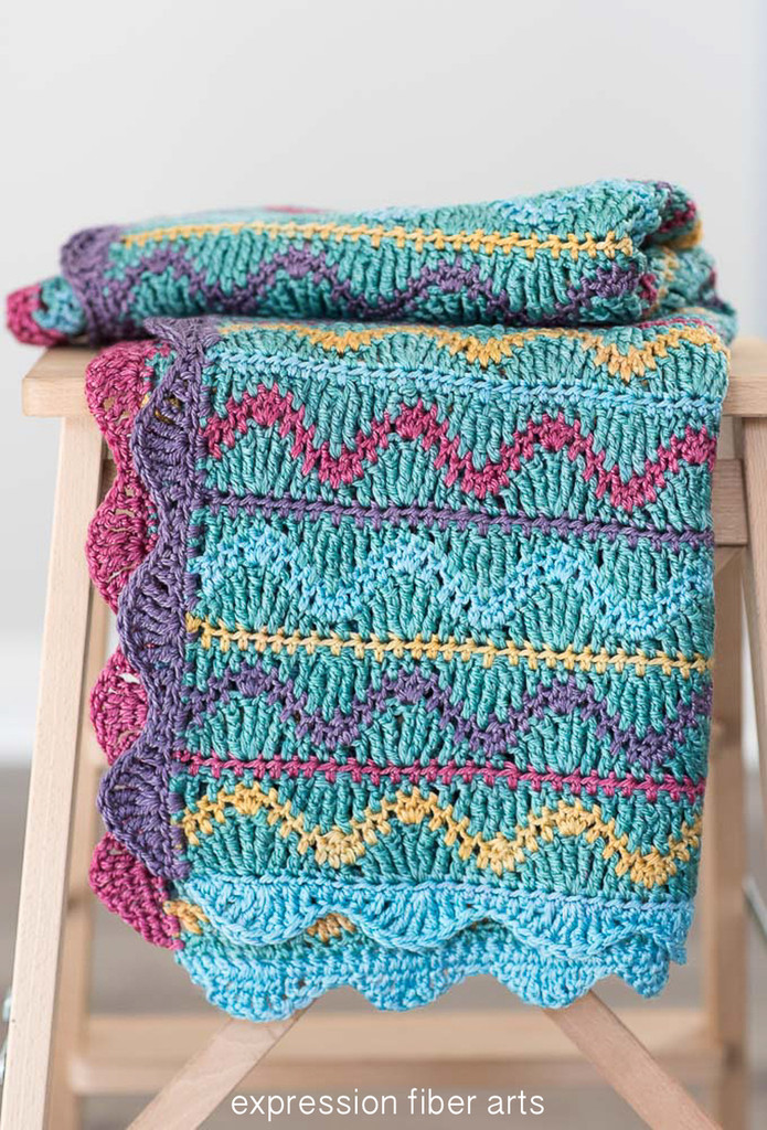 Squiggles Crochet Baby Blanket Pattern