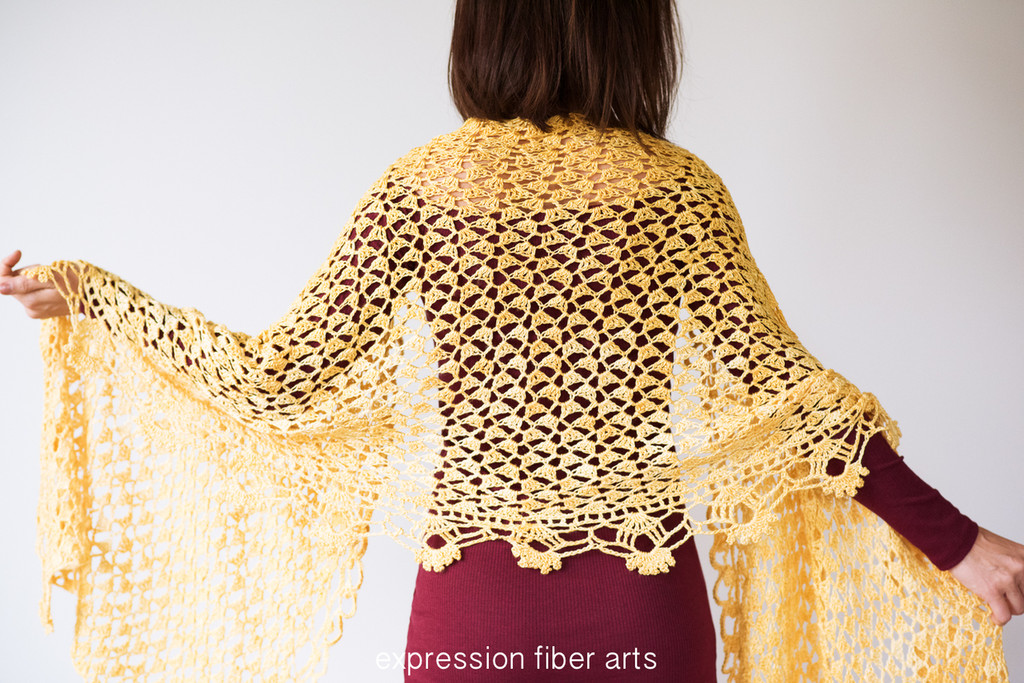 Sweet Pea Crochet Shawl Pattern