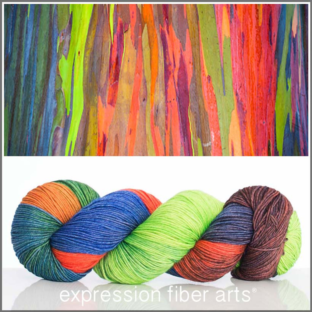 RAINBOW EUCALYPTUS 'RESILIENT' SUPERWASH MERINO SOCK