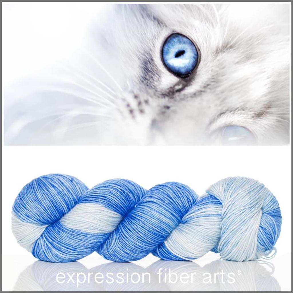 OOPSY BABY BLUE EYES 'RESILIENT' SUPERWASH MERINO SOCK