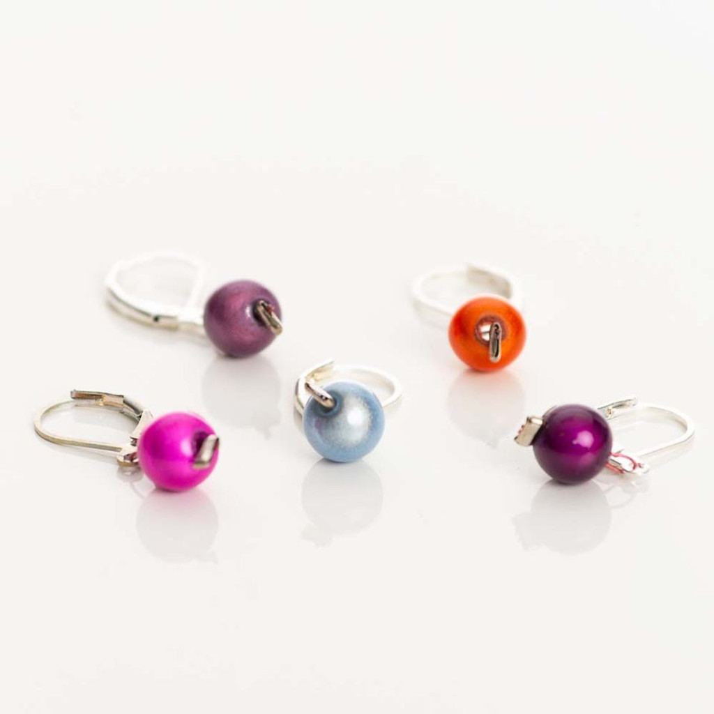 Glossy Pearl 5-Pack Opening Stitch Markers