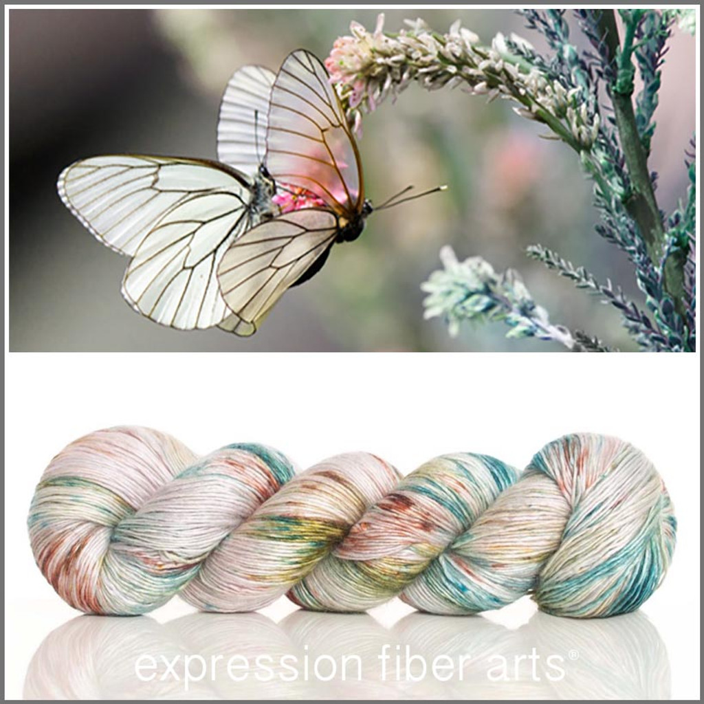 ODE TO A BUTTERFLY Limited Edition 'PEARLESCENT' FINGERING 100g