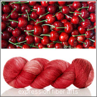CHERRY SUPERWASH MERINO SILK PEARLESCENT FINGERING