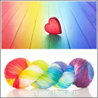 RAINBOW LOVE 'RESILIENT' SUPERWASH MERINO SOCK