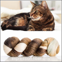 TABBY CAT 'LUSTER' SUPERWASH MERINO TENCEL SPORT