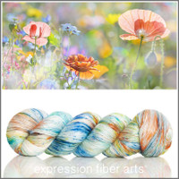 SUMMER MEADOW Limited Edition 'PEARLESCENT' FINGERING 100g