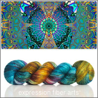 MANDALA BUTTERFLY Limited Edition 'PEARLESCENT' FINGERING 100g + Butterfly Buttons