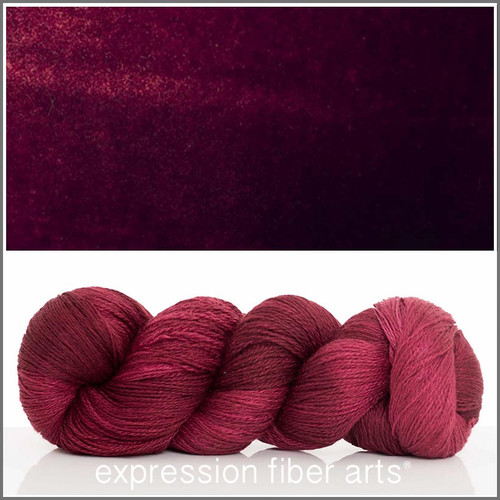 OXBLOOD YAK SILK LACE YARN