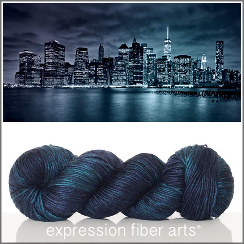 NEW YORK AT NIGHT 'PEARLESCENT' WORSTED