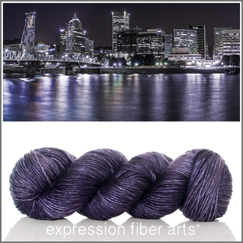 PORTLAND AT NIGHT 'PEARLESCENT' WORSTED