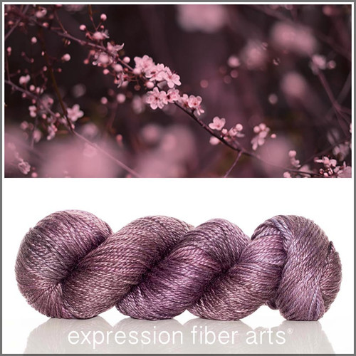 PLUM BLOSSOM 'LUSTER' WORSTED