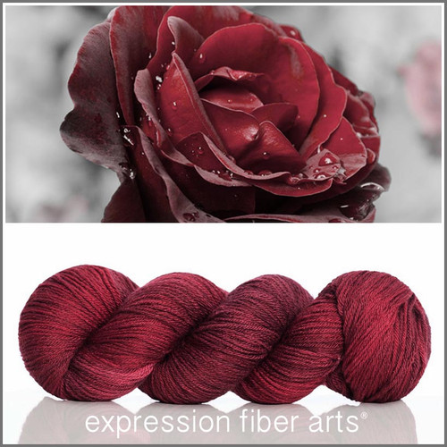 RED VELVET ROSE 'CASHSILK' SOCK