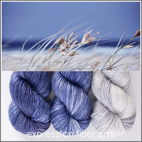 AHOY 'PEARLESCENT' WORSTED 'NOVELLO' SHAWL KIT