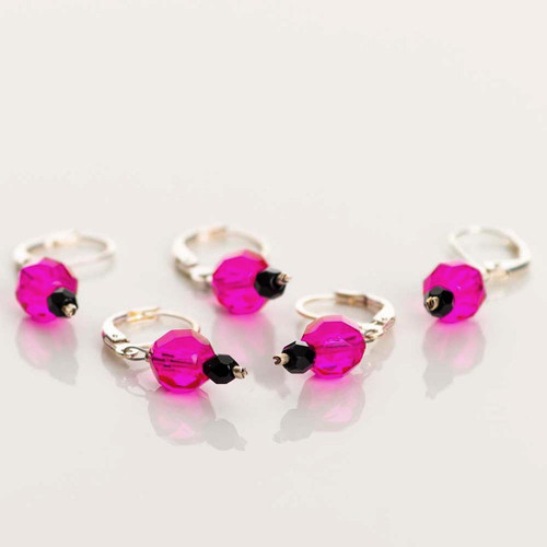 Hot Pink 5-Pack Opening Stitch Markers