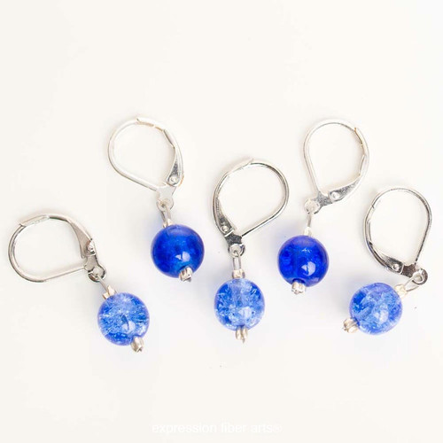 Varied Blues 5-Pack Opening Stitch Markers