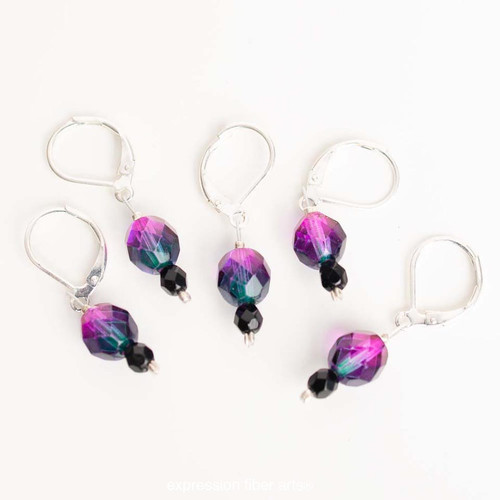 June Alexandrite 5-Pack Opening Stitch Markers