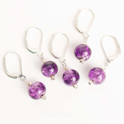 Dark Purple 5-Pack Opening Stitch Markers