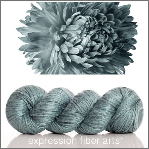 GRAY ASTER 'ZANE' SILK WORSTED