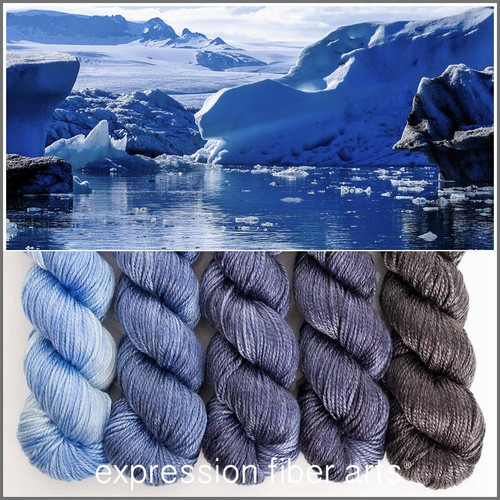 GLACIER HUES 'LUSTER' WORSTED KIT