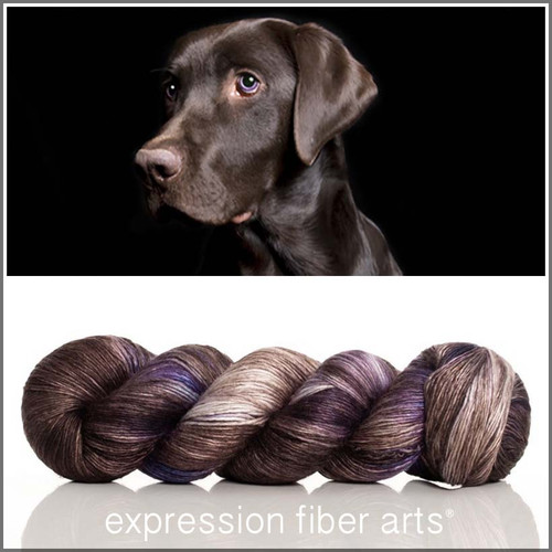 CHOCOLATE LAB Limited Edition 'PEARLESCENT' FINGERING 100g + Stitch Marker
