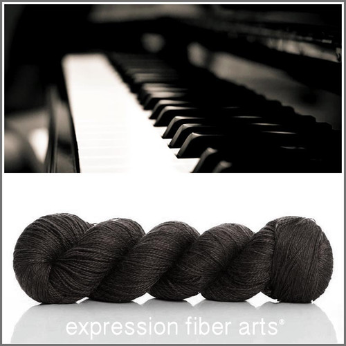 EBONY ALPACA SILK LACE