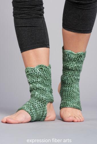 Shanti Crochet Yoga Sock Pattern In Dk Weight Yarn