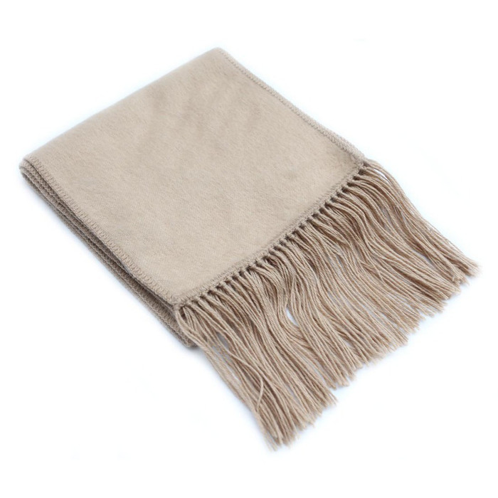 Alpaca Wool Scarf Soft And Warm Solid Color Plain Design