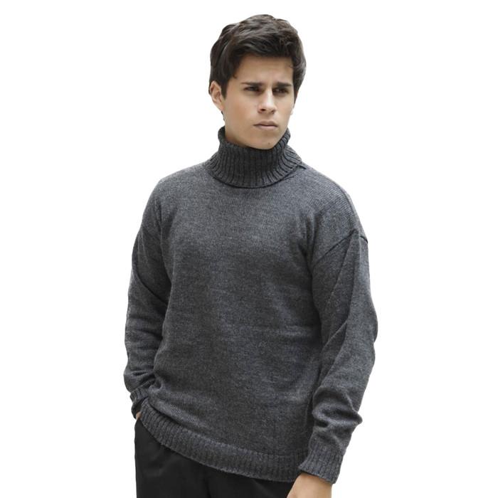 Men's Soft Alpaca Wool Knitted Turtleneck Sweater
