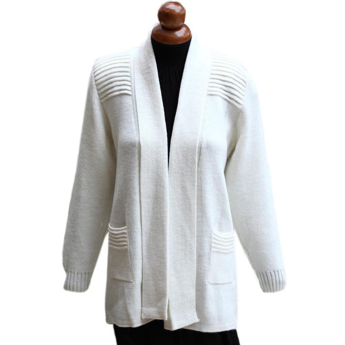 Women's Alpaca Wool Coat Sz L Ivory