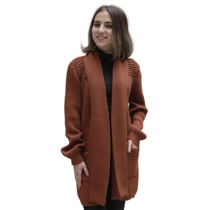 Women's Alpaca Wool Coat Sz L Copper