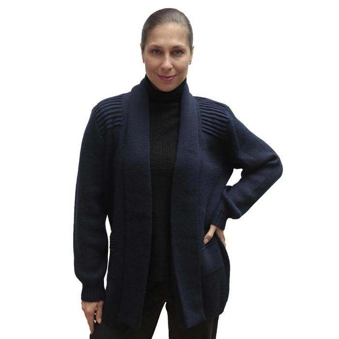 Women's Alpaca Wool Coat Sz L Navy Blue