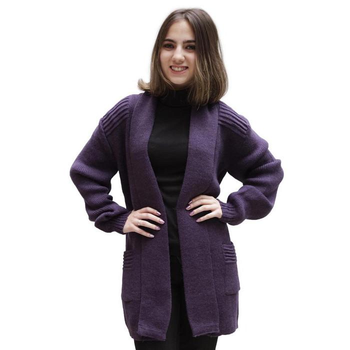 Women's Alpaca Wool Coat Sz M Plum