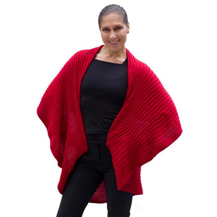 Alpaca Wool Coat Red SZ L (11K-035-842L)