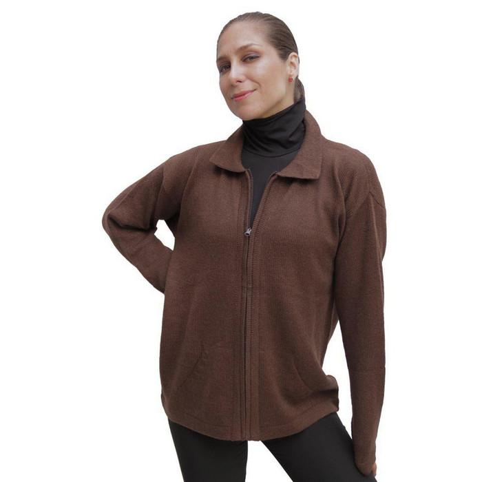 Womens Alpaca Wool Jacket Brown SZ XL (14D-014-890XL)