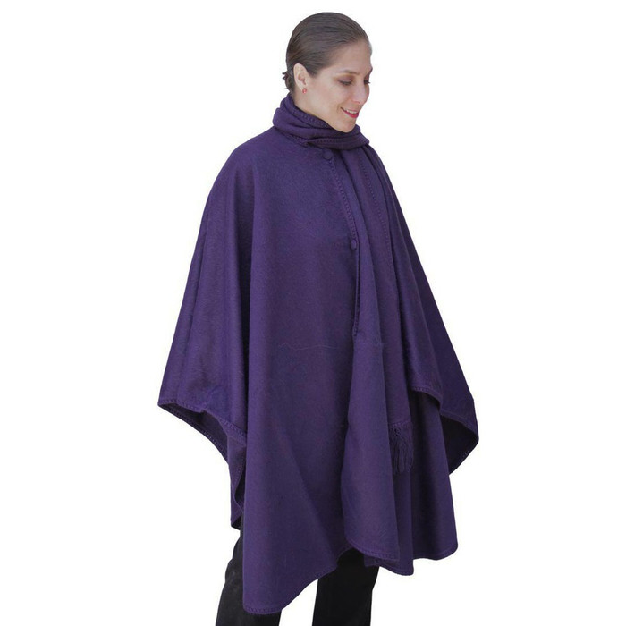 Woven Alpaca Wool Nazca Cloak with Scarf