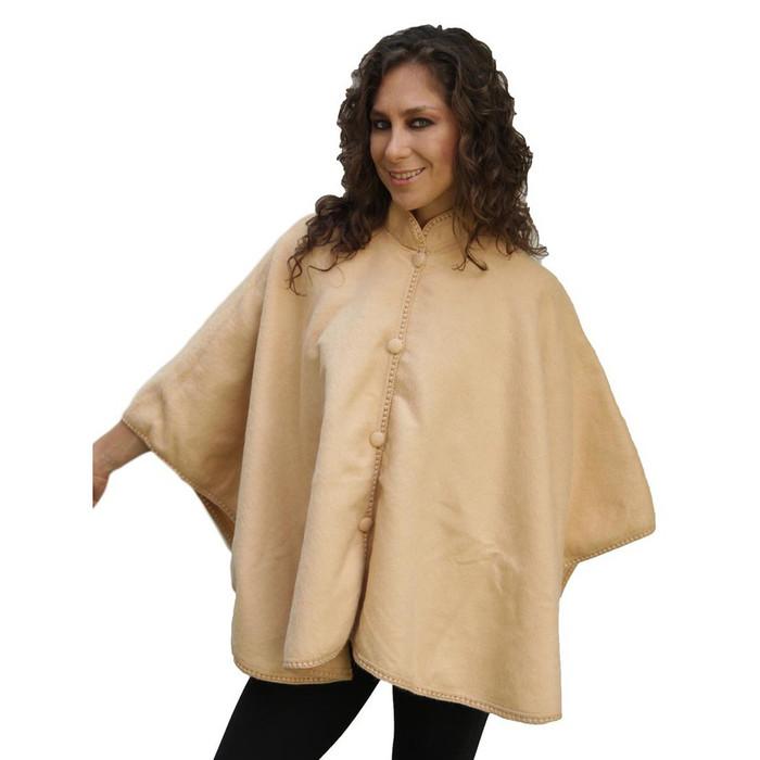 Woven Alpaca Wool Nehru Short Cape
