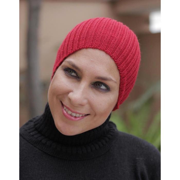 Superfine Alpaca Wool Knit Beanie Ski Hat Red One Size (65A-035-842)