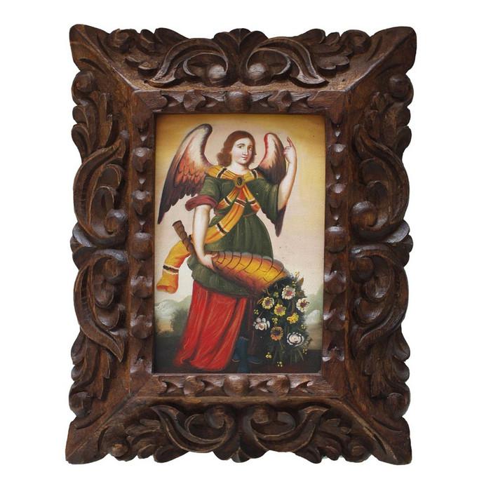 "Archangel Gabriel Original Art Framed Oil Painting 10""x 8"" (86-014-02235)"