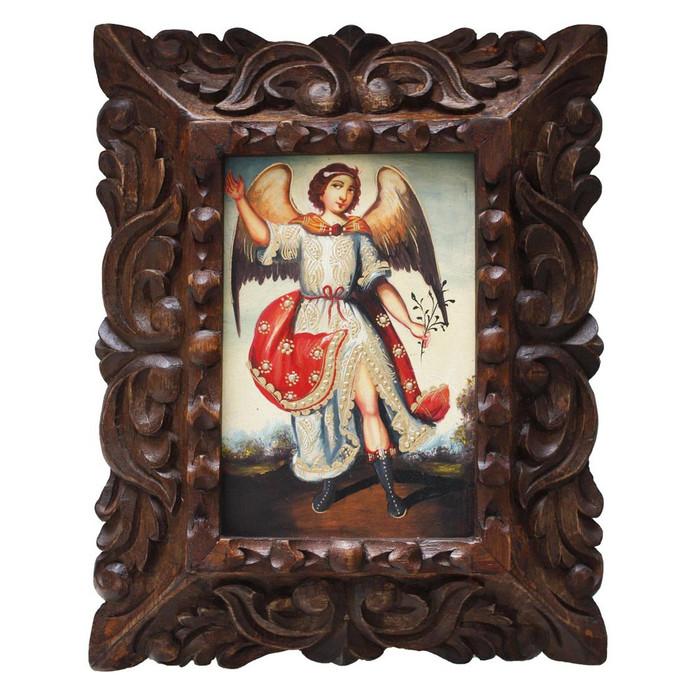 "Archangel Ariel Original Art Framed Oil Painting 10""x 8"" (86-014-02238)"